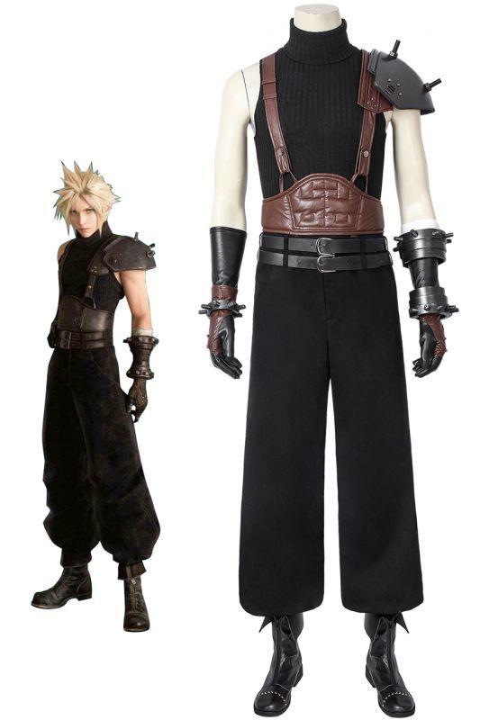 画像1: ファイナルファンタジーVII クラウド・ストライフ FINAL FANTASY VII FFVII FF7 Cloud Strife ブーツ付き コスプレ衣装 コスチューム ゲーム cosplay (1)