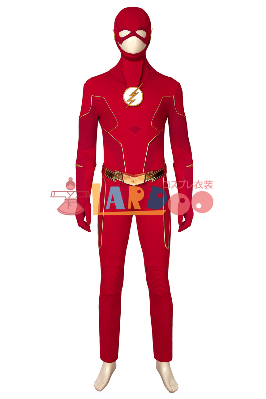 画像1: フラッシュ シーズン6 バリー・アレン The Flash Season 6 Barry Allen 修正版 コスプレ衣装 コスチューム cosplay (1)
