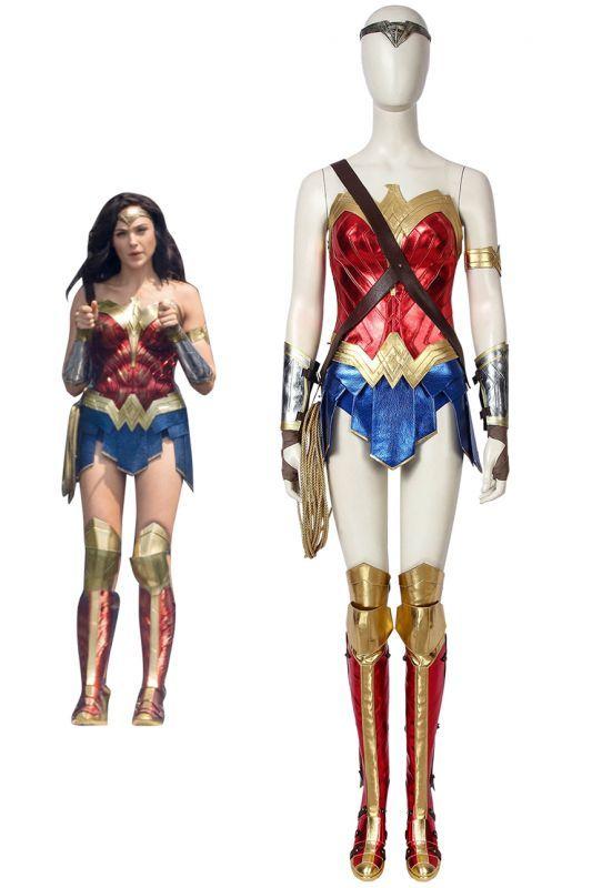 画像1: ワンダーウーマン ダイアナ Wonder Woman 1984 Diana Prince ブーツ付き コスプレ衣装 コスチューム ゲーム cosplay (1)