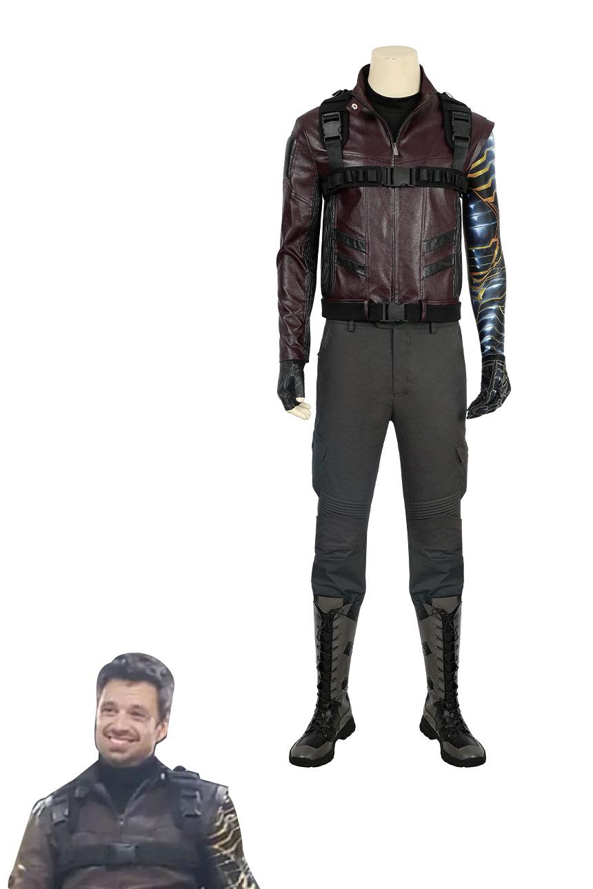 画像1: ファルコン&ウィンター・ ソルジャー バッキー バーンズ The Falcon and the Winter Soldier Winter Soldier Bucky Barnes ブーツ付き コスプレ衣装 コスチューム ゲーム cosplay (1)