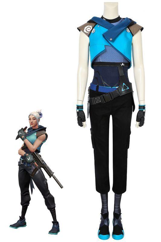 画像1: ヴァロラント VALORANT ジェット Jett コスプレ衣装 コスチューム ゲーム cosplay (1)