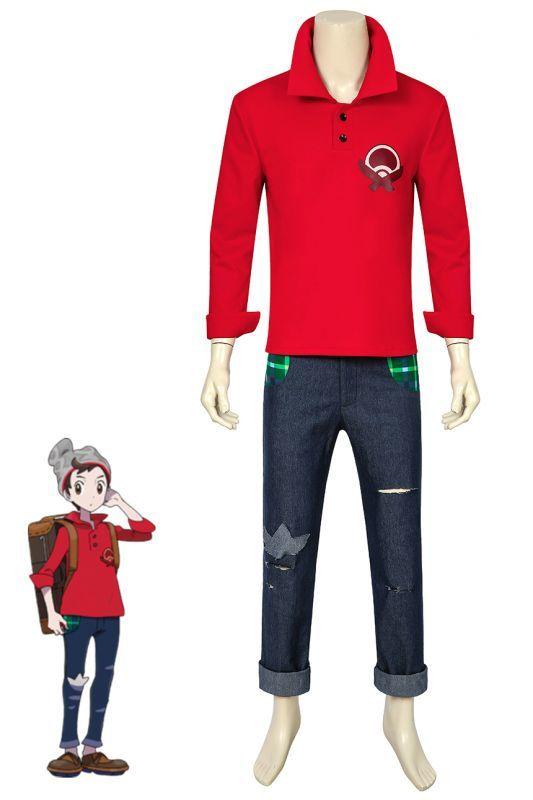 画像1: ポケットモンスター ソード・シールド ポケモン剣盾 男主人公 マサル Pokemon Sword Shield Victor コスプレ衣装 コスプレ コスチューム ゲーム cosplay (1)
