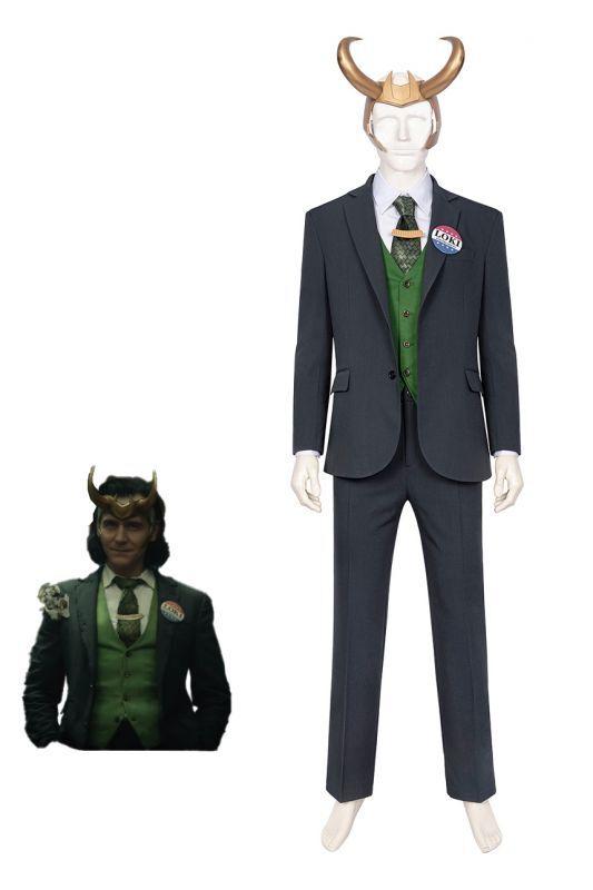 画像1: Loki season one ロキ スーツ コスプレ衣装 コスプレ コスチューム cosplay (1)