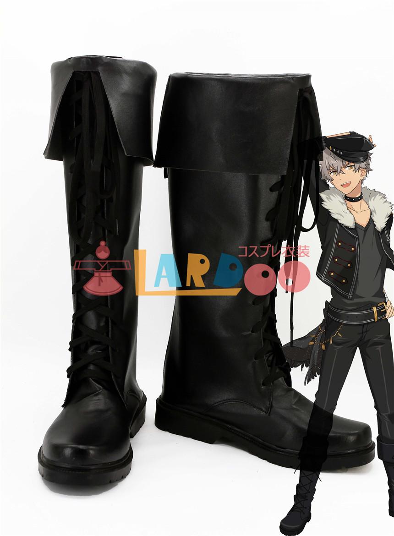 画像1: あんさんぶるスターズ! Undead  大神晃牙 ブーツ コスプレ衣装 アニメ コスプレ コスチューム ゲーム cosplay (1)