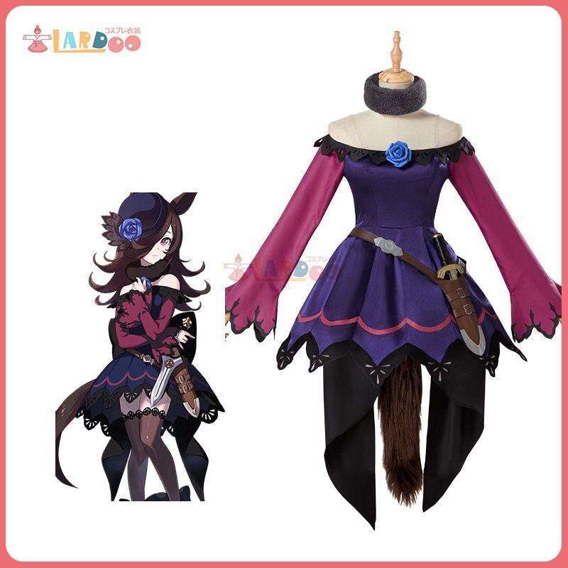 画像1: ウマ娘 プリティーダービー ライスシャワー 勝負服 コスプレ衣装 オーダーメイド可能 コスチューム cosplay (1)