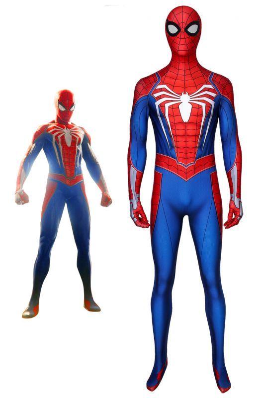 画像1: スパイダーマン SPIDER-MAN PS4 ジャンプスーツ コスプレ衣装 映画 コスチューム ハロウィン cosplay (1)