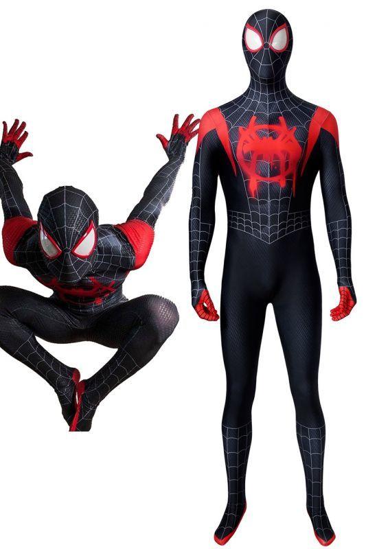 画像1: スパイダーマン: スパイダーバース マイルス・モラレス Spider-Man: Into the Spider-Verse Miles Morales コスプレ衣装  映画 コスチューム ハロウィン cosplay (1)