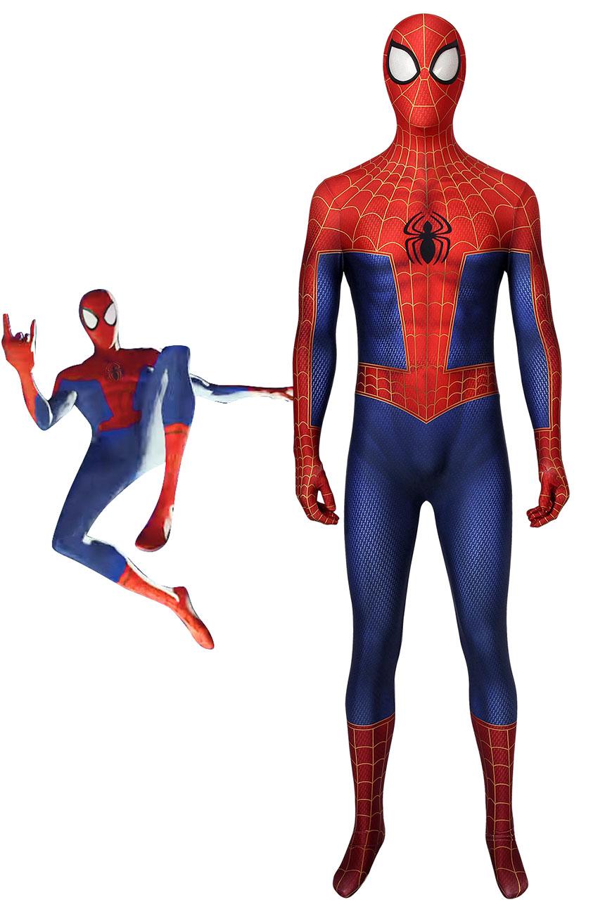 画像1: スパイダーマン: スパイダーバース スパイダーマン ピーター・パーカー コスプレ衣装  映画 コスチューム ハロウィン cosplay (1)