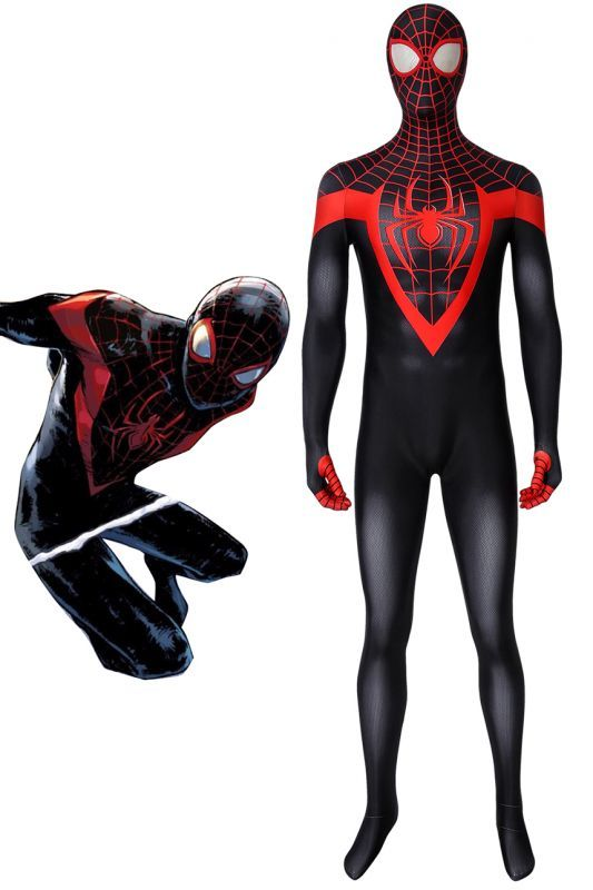 画像1: アルティメット・スパイダーマン マイルス・モラレス Ultimate Spider-Man Miles Morales ジャンプスーツ コスプレ衣装 映画 コスチューム ハロウィン cosplay (1)