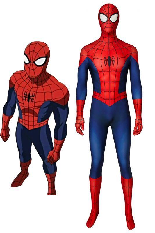 画像1: アルティメット・スパイダーマン ピーター・パーカー Ultimate Spider-Man Peter Parker コスプレ衣装  映画 コスチューム ハロウィン cosplay (1)