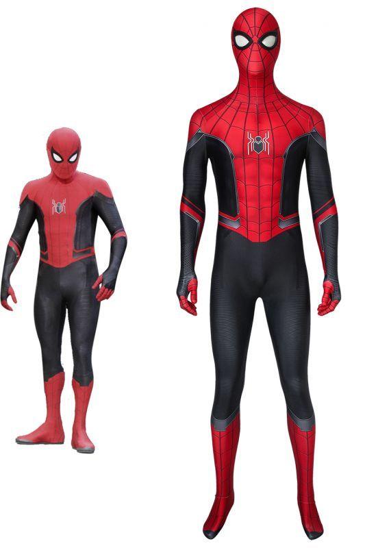 画像1: スパイダーマン:ファー・フロム・ホーム Spider-Man: Far From Home 2019 ピーター・パーカー ジャンプスーツ コスプレ衣装  コスチューム ハロウィン cosplay (1)