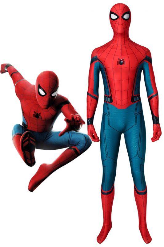 画像1: シビル・ウォー/キャプテン・アメリカ スパイダーマン ピーター・パーカー Spider-Man ジャンプスーツ コスプレ衣装 ハロウィン コスチューム cosplay (1)