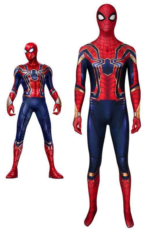 画像1: スパイダーマン:ファー・フロム・ホーム アイアン・スパイダー スパイダーマン Iron Spider ジャンプスーツ コスプレ衣装  映画 コスチューム ハロウィン cosplay (1)