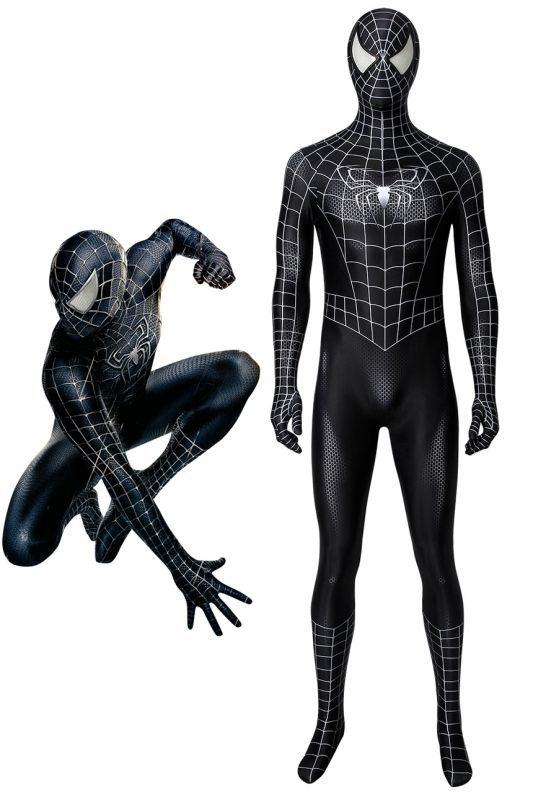 画像1: スパイダーマン3 ヴェノム スパイダーマン Spider-Man 3 Venom コスプレ衣装  映画 コスチューム ハロウィン cosplay (1)