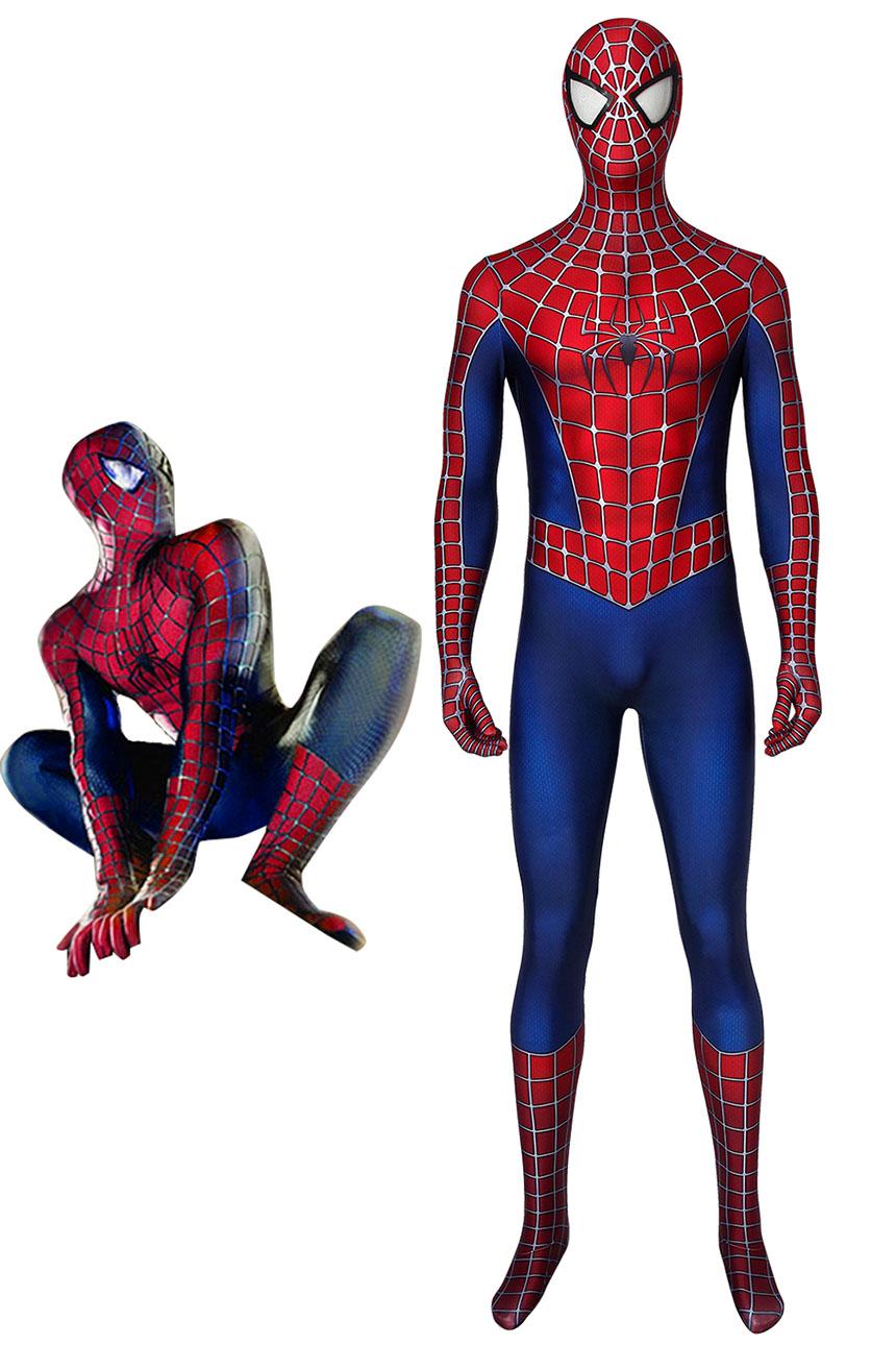 画像1: スパイダーマン トビー・マグワイア版 Tobey Maguire version コスプレ衣装  コスチューム ハロウィン cosplay (1)