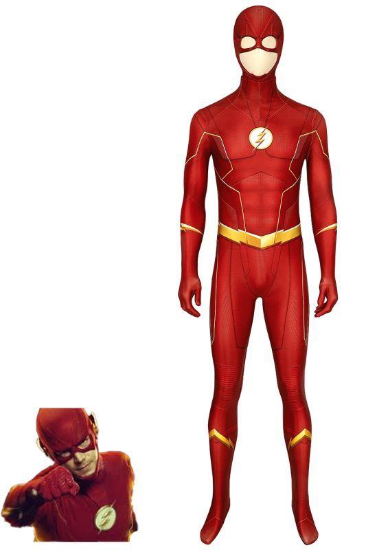 画像1: フラッシュ シーズン6 バリー・アレン The Flash Season 6 Barry Allen ジャンプスーツ コスプレ衣装  コスチューム cosplay (1)