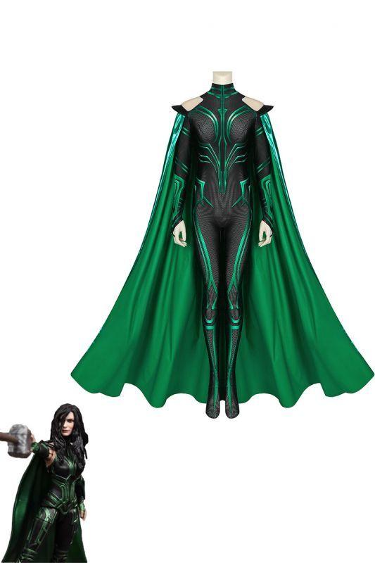 画像1: マイティ・ソー バトルロイヤル ヘラ THOR 3 Ragnarok Trailer Hela ジャンプスーツ コスプレ衣装  コスチューム cosplay (1)