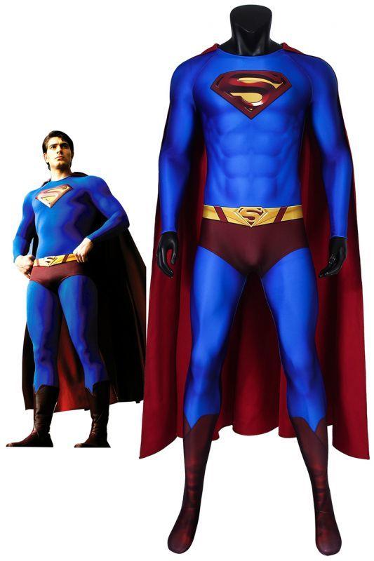 画像1: スーパーマン リターンズ クラーク・ケント/スーパーマン Superman Returns Superman Clark Kent ジャンプスーツコスプレ衣装 コスチューム cosplay (1)