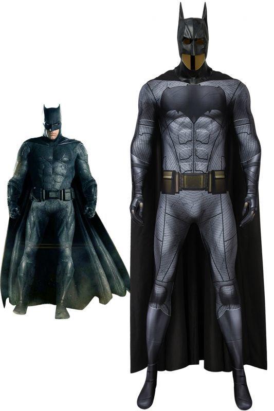画像1: ジャスティス リーグ バットマン ブルース ウェイン Justice League Batman ジャンプスーツ コスプレ衣装  コスチューム cosplay (1)