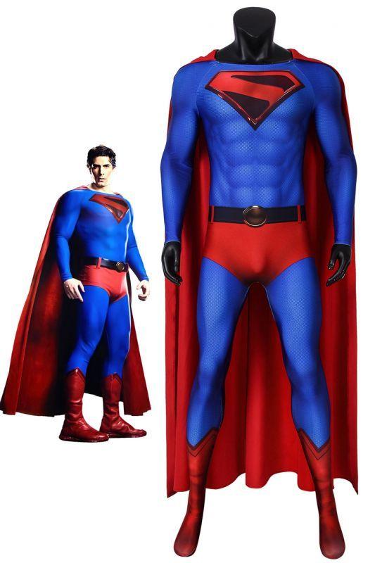 画像1: クライシス・オン・インフィニット・アース スーパーマン カル?エル クラーク・ケント Crisis on Infinite Earths Superman Kal-El/Clark Kent ジャンプスーツコスプレ衣装 コスチューム cosplay (1)