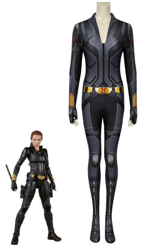 画像1: ブラック・ウィドウ ナターシャ・ロマノフ Black Widow Natasha Romanoff Black suit ジャンプスーツ コスプレ衣装  コスチューム cosplay (1)