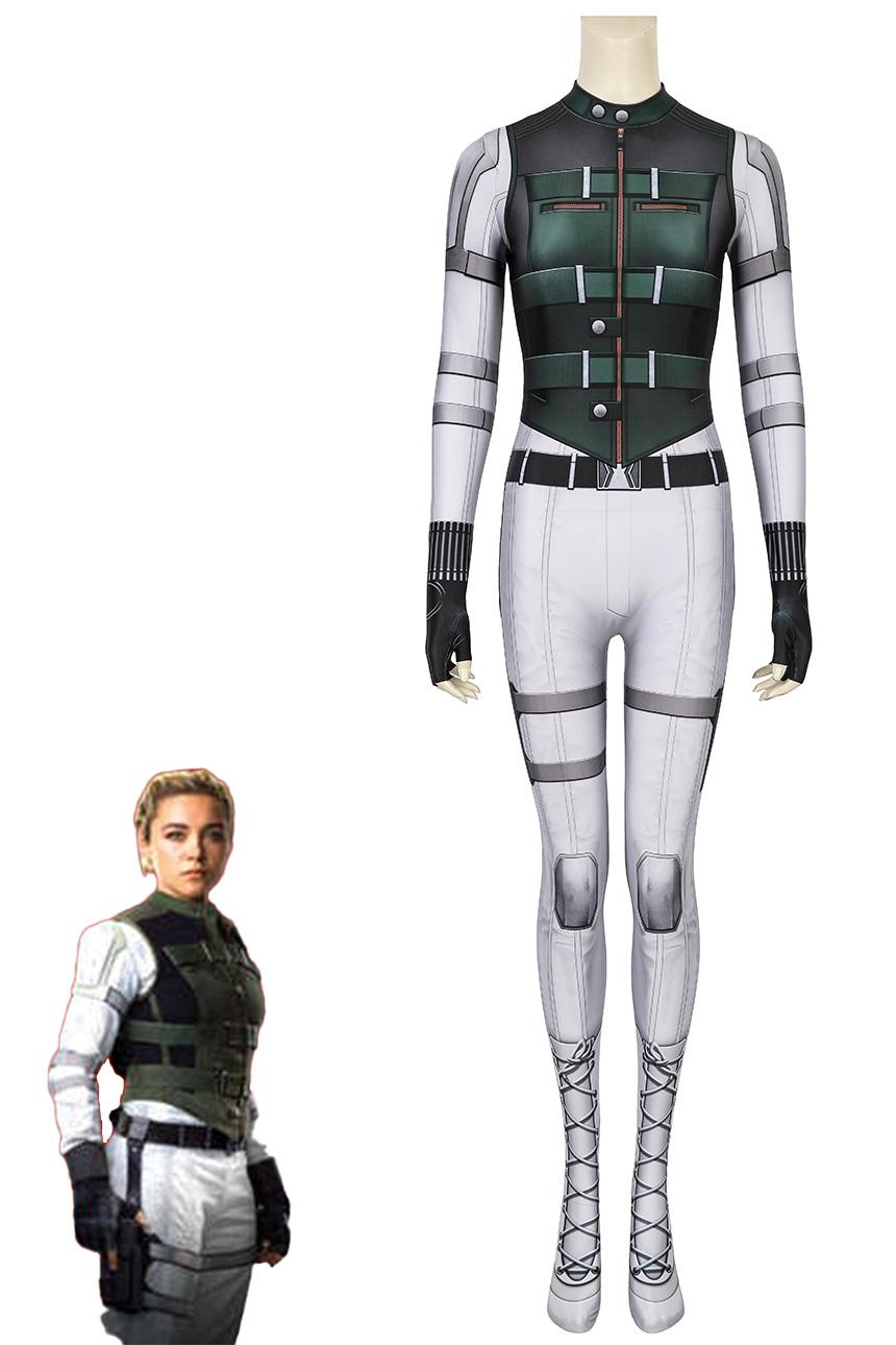 画像1: ブラック・ウィドウ エレーナ・ベロワ/ブラック・ウィドウ Black Widow The Movie Yelena Belova ジャンプスーツ コスプレ衣装  コスチューム cosplay (1)