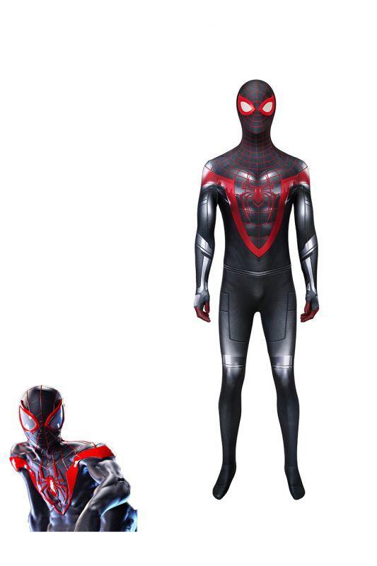 画像1: スパイダーマン マイルス・モラレス Spider-Man Miles Morales ジャンプスーツ コスプレ衣装  コスチューム cosplay (1)