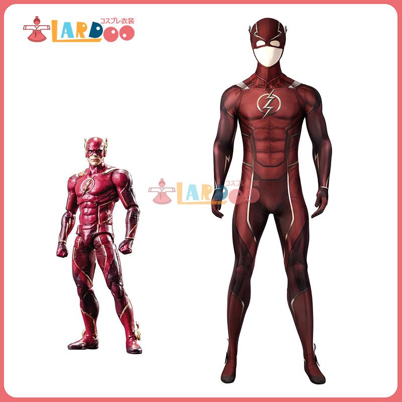 画像1: インジャスティス2  Injustice 2 フラッシュ THE FLASH ジャンプスーツ コスプレ衣装  コスチューム cosplay (1)