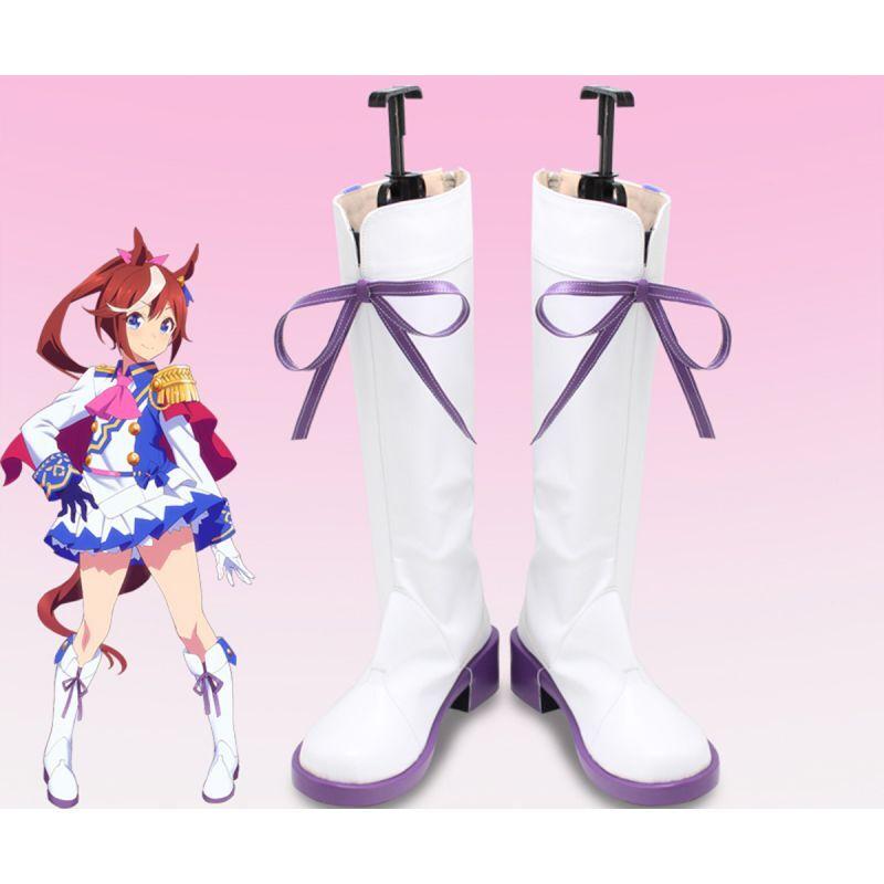 画像1: ウマ娘 プリティーダービー トウカイテイオー コスプレ靴 コスプレブーツ コスチューム cosplay (1)