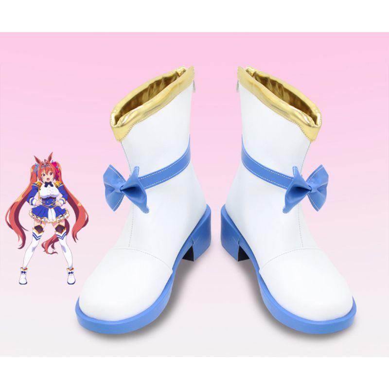画像1: ウマ娘 プリティーダービー ダイワスカーレット コスプレ靴 コスプレブーツ コスチューム cosplay (1)